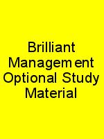 Brilliant Management Optional Study Material N