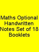 Maths Optional Handwritten Notes Set of 18 Booklets N