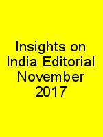 Insights on India Editorial November 2017 N