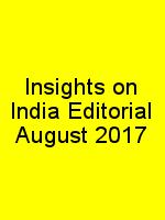 Insights on India Editorial August 2017 N
