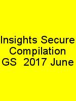 Insights Secure Compilation GS  2017 June N