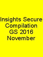 Insights Secure Compilation GS 2016 November N