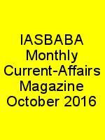 IASBABA Monthly Current-Affairs Magazine October 2016 N