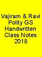 Vajiram & Ravi Polity GS Handwritten Class Notes 2018 N