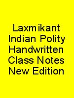 Laxmikant Indian Polity Handwritten Class Notes New Edition N