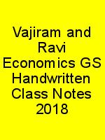 Vajiram and Ravi Economics GS Handwritten Class Notes 2018 N