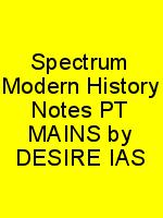 Spectrum Modern History Notes PT MAINS by DESIRE IAS N