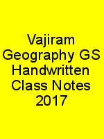 Vajiram Geography GS Handwritten Class Notes 2017 N