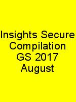 Insights Secure Compilation GS 2017 August N