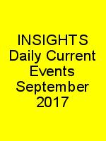 INSIGHTS Daily Current Events September 2017 N