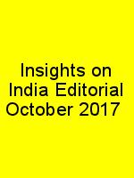 Insights on India Editorial October 2017 N