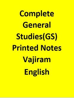 Complete General Studies(GS) Printed Notes By Vajiram -English
