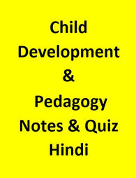 Child Development & Pedagogy Notes & Quiz State TET Exam - Hindi