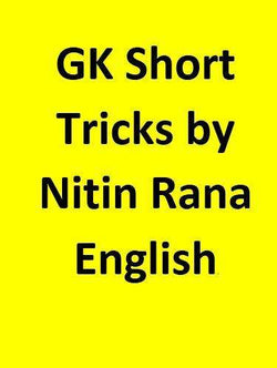 GK Short Tricks by Nitin Rana - English