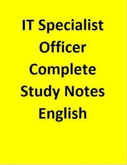 IT Specialist Officer Complete Study Notes in Brief - English
