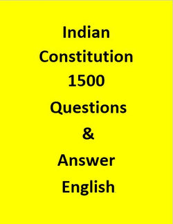 Indian Constitution 1500 Questions & Answer - English