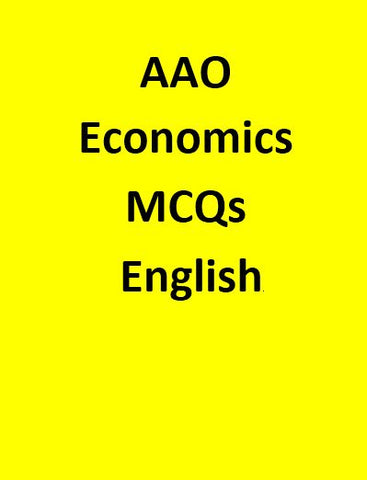 AAO Economics MCQs - English