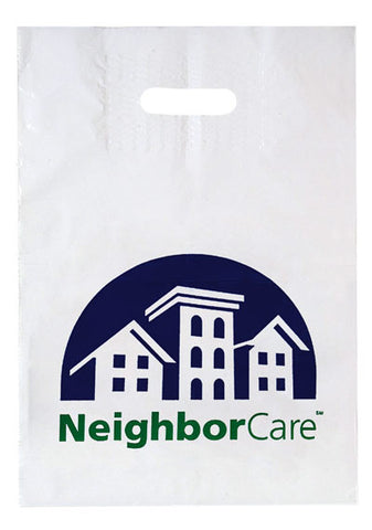 Patch Handle Reinforced Die Cut Bag in Bulk Wholesale - 12PH1216