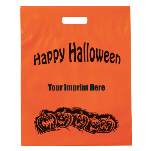 Stock Design Halloween Frosted Die Cut Bag in Bulk, Wholesale - 19FD12153P