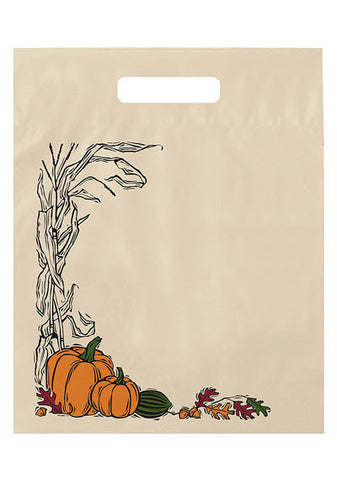 Stock Design Halloween Fold-Over Reinforced Die Cut Bag in Bulk, Wholesale - 13HDF1215
