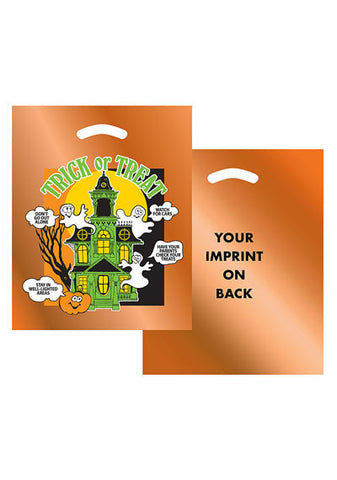 Stock Design Halloween Die Cut Bag in Bulk, Wholesale - 13OH1215