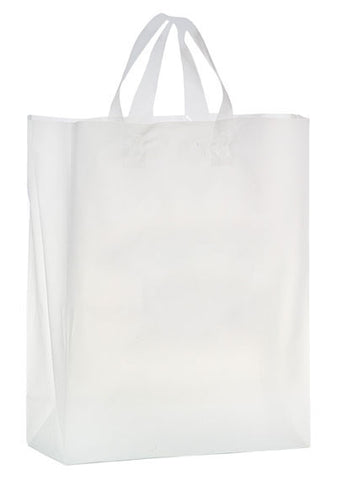 Clear Frosted Soft Loop Shopper Bag - 19FSC13516
