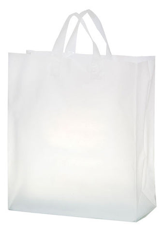 Clear Frosted Soft Loop Shopper Bag - 19FSC16618
