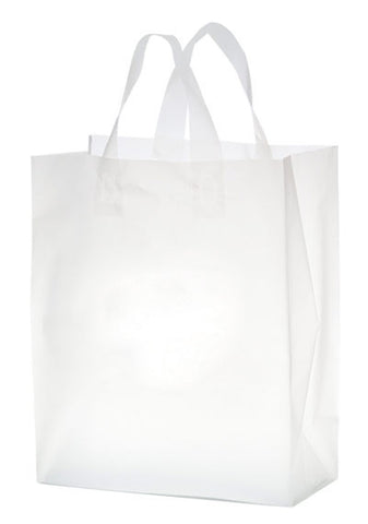 Clear Frosted Soft Loop Shopper Bag - 19FSC8411