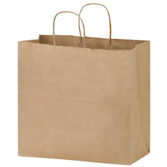 NATURAL KRAFT PAPER TAKE-OUT TWISTED PAPER HANDLE SHOPPER - 1N13712