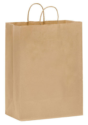 Natural Kraft Twisted Paper Handle Shopper in Bulk Wholesale - 1N13717