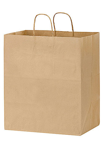 Natural Kraft Paper Take Out Twisted Paper Handle Shopper in Bulk Wholesale - 1N14916