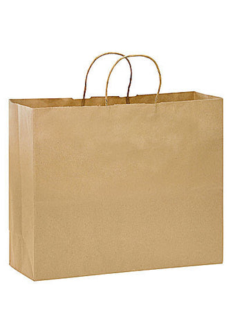 Natural Kraft Twisted Paper Handle Shopper in Bulk Wholesale - 1N16612