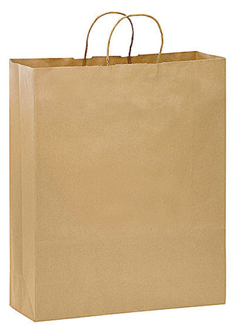 Natural Kraft Twisted Paper Handle Shopper in Bulk Wholesale - 1N16619