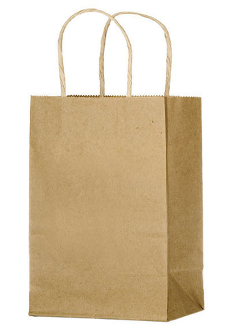 Natural Kraft Twisted Paper Handle Shopper in Bulk Wholesale - 1N538