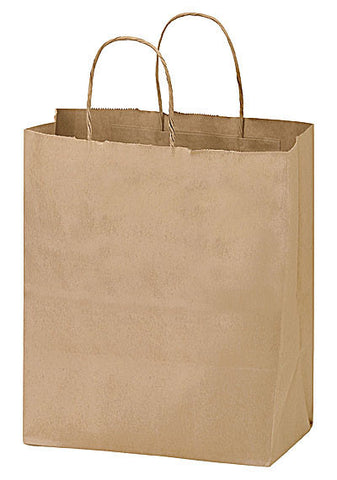 Natural Kraft Twisted Paper Handle Shopper in Bulk Wholesale - 1N8410
