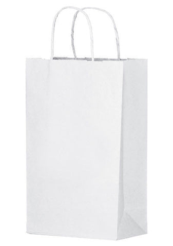 White Kraft Twisted Paper Handle Shopper in Bulk, Wholesale - 1W10513