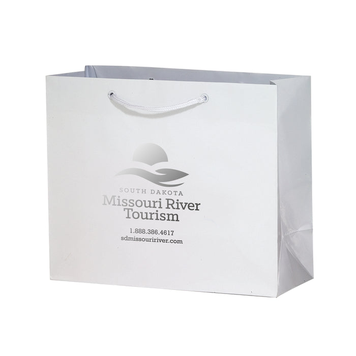 GLOSS LAMINATED EURO TOTE BAG |9X3X7| - 2L937