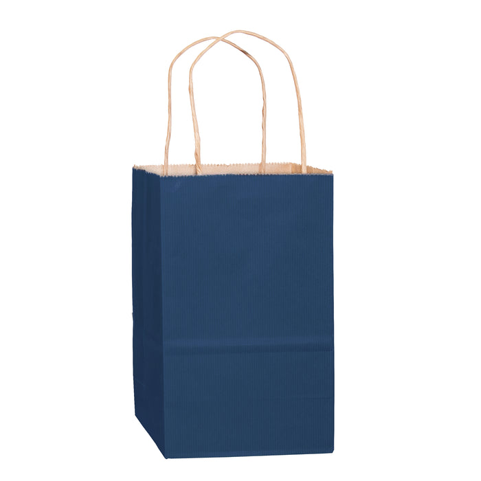 MATTE COLOR TWISTED PAPER HANDLE SHOPPER - 4M538