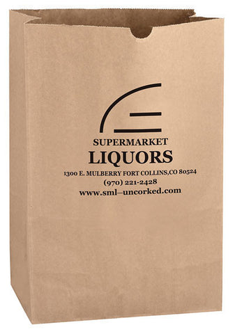 Natural Kraft 1/6 bbl. Grocery Bag in Bulk Wholesale - 6G16BN