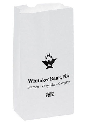 White Kraft 2# Grocery Bag in Bulk, Wholesale - 6G2W