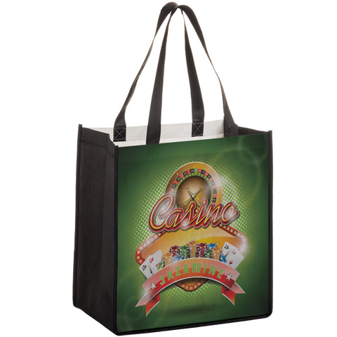 P.E.T. NON-WOVEN SUBLIMATED GROCERY BAG - SUB12813