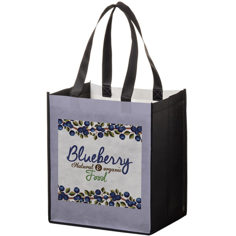 P.E.T. NON-WOVEN SUBLIMATED GROCERY BAG - SUB131015