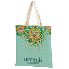 SUBLIMATED COTTON CANVAS TOTE BAG - Bulk - SUBC1516