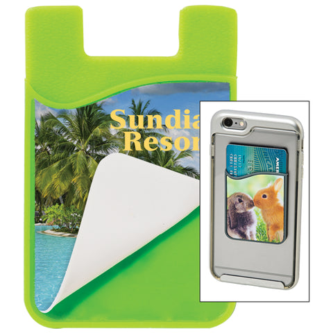 SILICONE PHONE WALLET - SUBLIMATED - SUBSW23