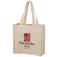 HEAVYWEIGHT COTTON TOTE BAG WITH 2 BOTTLE HOLDERS - CH13513