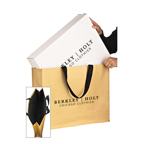NON-WOVEN HYBRID TOTE WITH PAPER EXTERIOR - MACK24