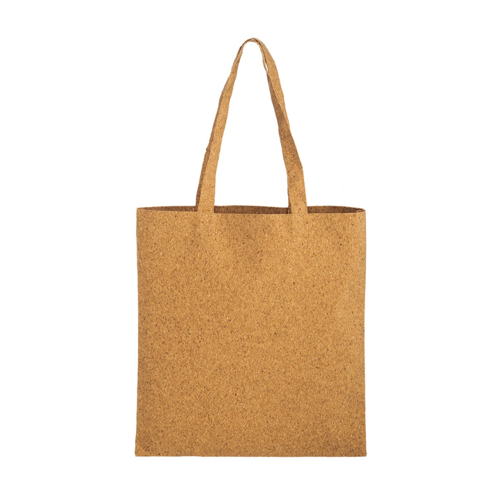 TRENDY CORK TOTE BAG WITH MATCHING HANDLES |15X16| - Wholesale - Bulk - CORK1516