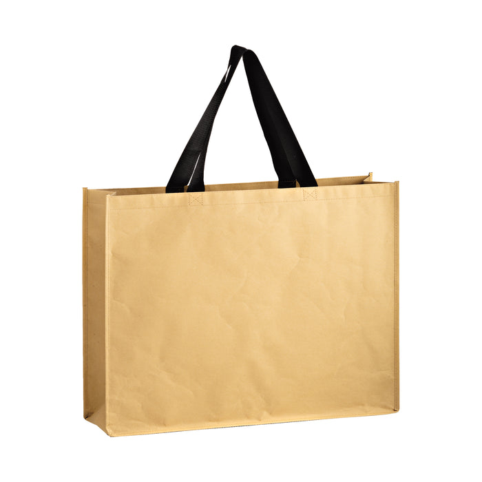 NON-WOVEN HYBRID TOTE WITH PAPER EXTERIOR - Bulk - MACK24