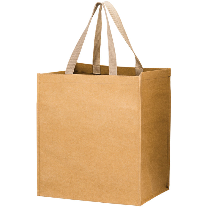 TYPHOON - WASHABLE KRAFT PAPER GROCERY TOTE BAG WITH WEB HANDLE - WB131015