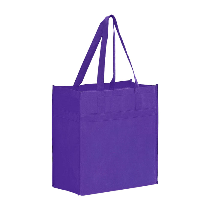 Heavy Duty Non Woven Grocery Tote Bag with Poly Board Insert Bulk Wholesale - Y2KL13714